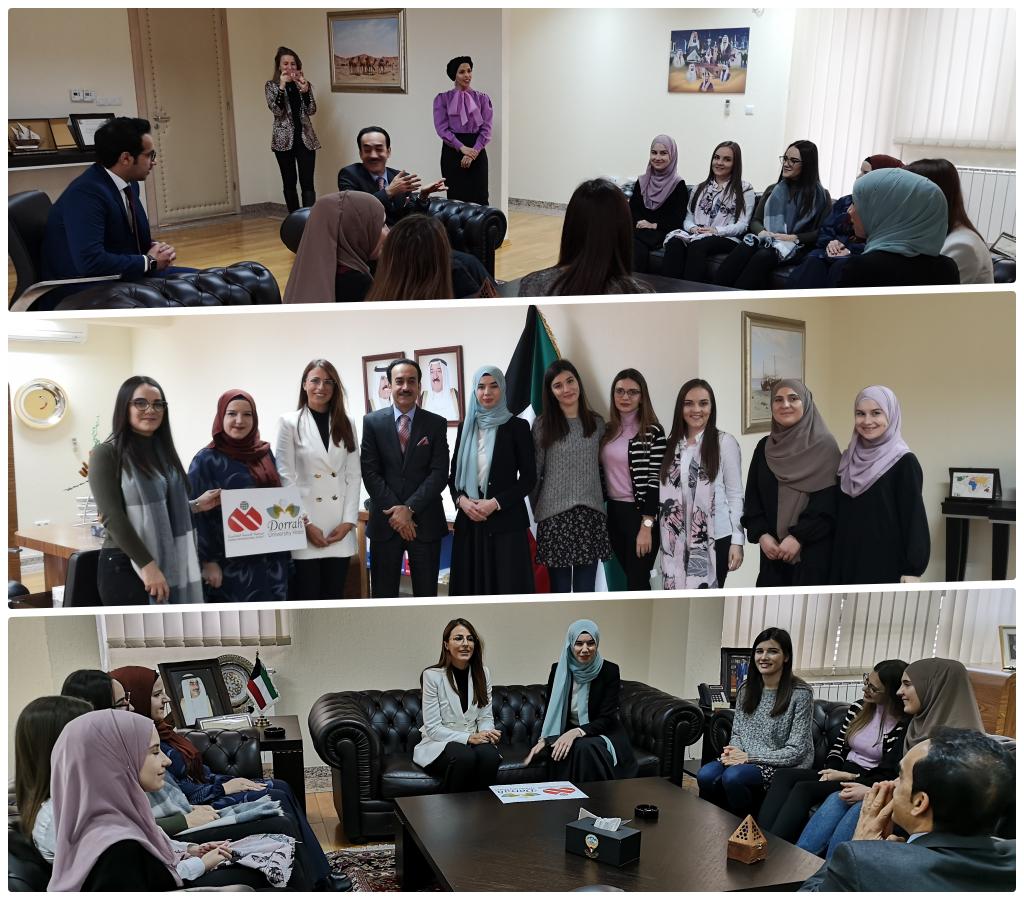 Studentice hotela Dorrah u posjeti ambasadi države Kuvajt